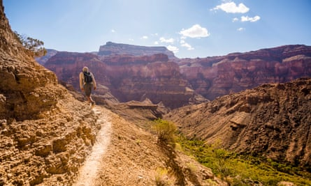 A hiker in the Grand Canyon. Nearly 6 million people visited the park last year, putting a strain on resources.