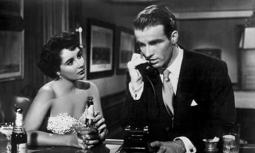 Montgomery Clift and Elizabeth Taylor in A Place in the Sun, 1951.