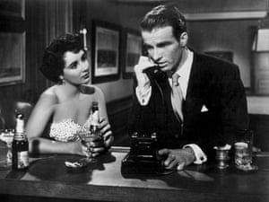 Elizabeth Taylor and Montgomery Clift in A Place in the Sun.