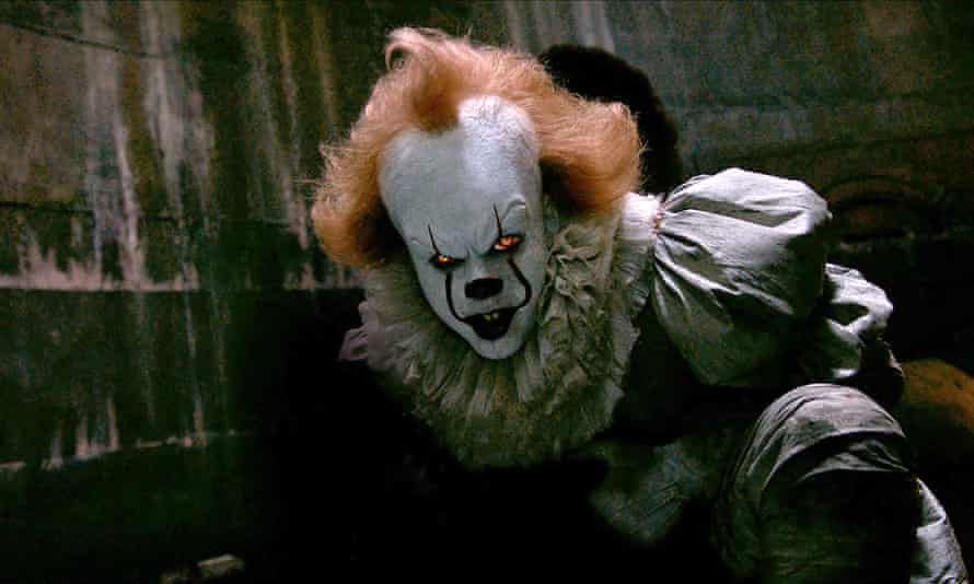 One of the most successful horror films of all time … It, with Bill Skarsgård as Pennywise.