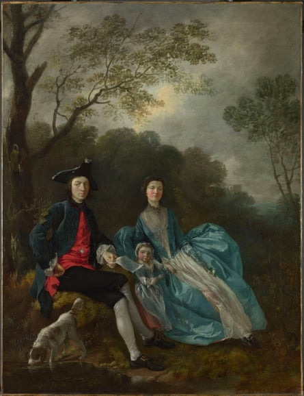 Portrait of the Artist With His Wife and Daughter by Thomas Gainsborough, c. 1748.