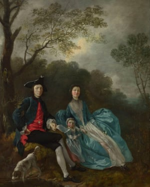 A show of status … The Artist With His wife and Daughter (c1748), Gainsborough's earliest family portrait.