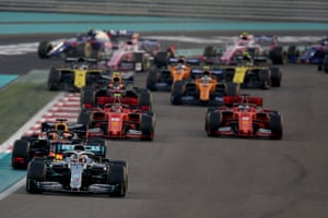 Lewis Hamilton leads the way in Abu Dhabi