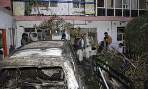 """A US drone strike destroyed a vehicle carrying """"multiple suicide bombers"""" from Afghanistan's Islamic State affiliate on Sunday, but the US is also investigating reports of multiple civilian casualties, including children"""