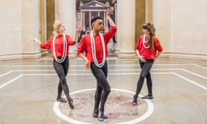 Clash of styles … Pablo Bronstein's Historical Dances in an Antique Setting at Tate Britain, London. Photographs: Guy Bell/Rex/Shutterstock