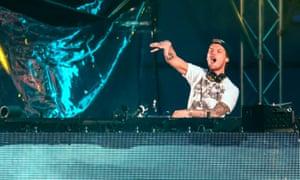 Avicii performs at the Summerburst music festival at Ullevi stadium in Gothenburg, Sweden.