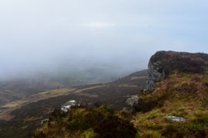 Carlin Tooth on a misty day