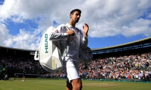 Novak Djokovic walks off after his shock defeat ending his hopes of a calendar-year Grand Slam.
