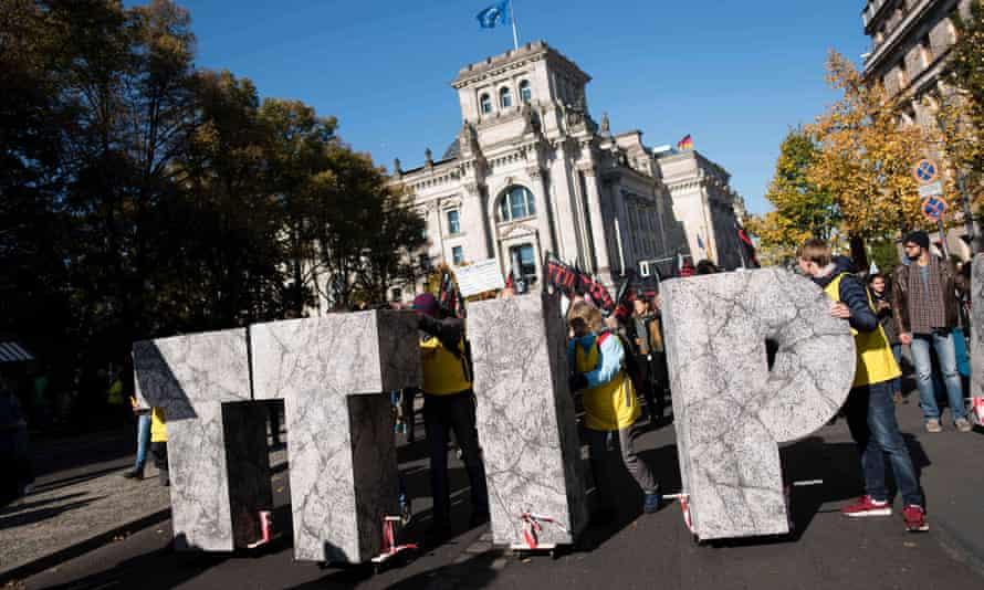 Protests against TTIP in Berlin