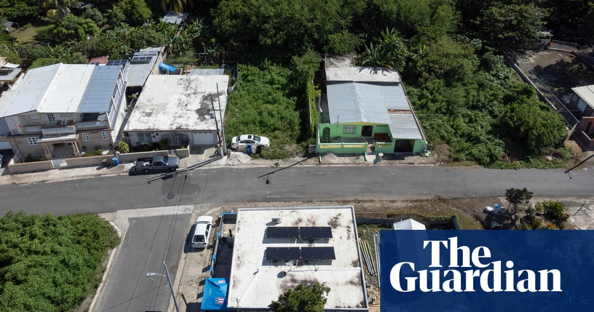 Build back solar: the Puerto Ricans who see sun as key to resist climate shocks