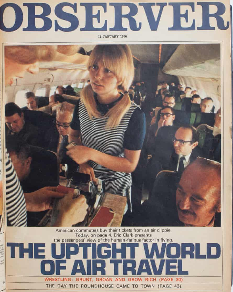 Nightmare of the trolley dollies: 1970s air travel.
