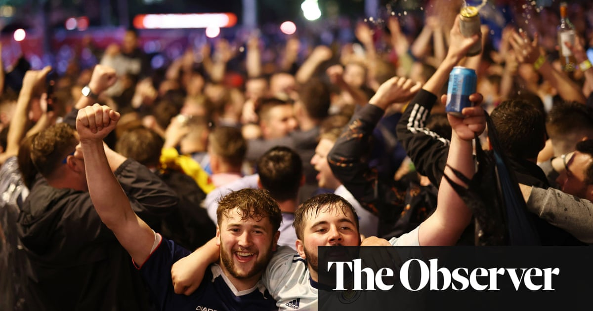 Jubilant Scotland fans make the journey home after the longest day