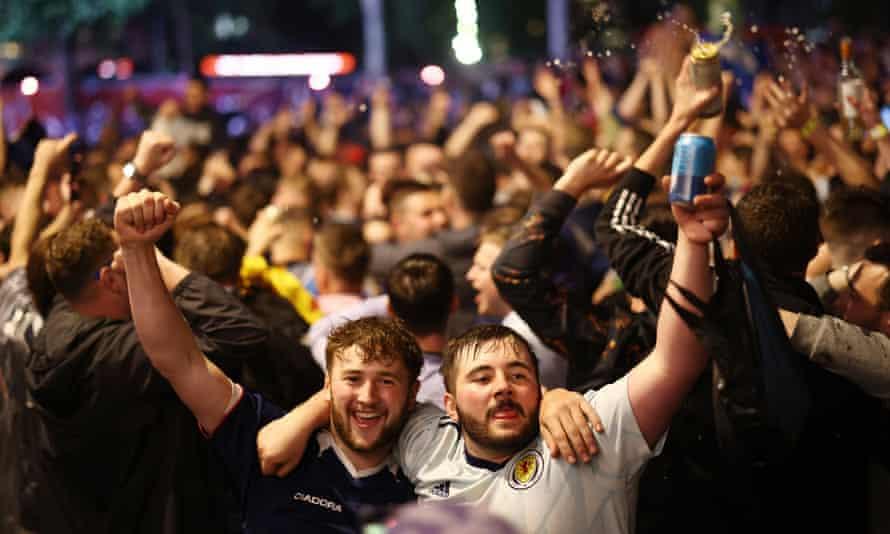 Scotland fans gather in London
