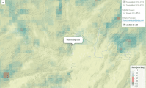 Rainfall near Tham Luang cave