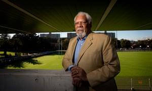 Aboriginal activist Sol Bellear at his beloved Redfern Oval in Sydney.