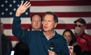 'The people in Ohio who know him are stunned that he has been allowed to get away with calling himself a moderate,' Sandy Theis, executive director of the liberal think tank Progress Ohio, said of John Kasich.