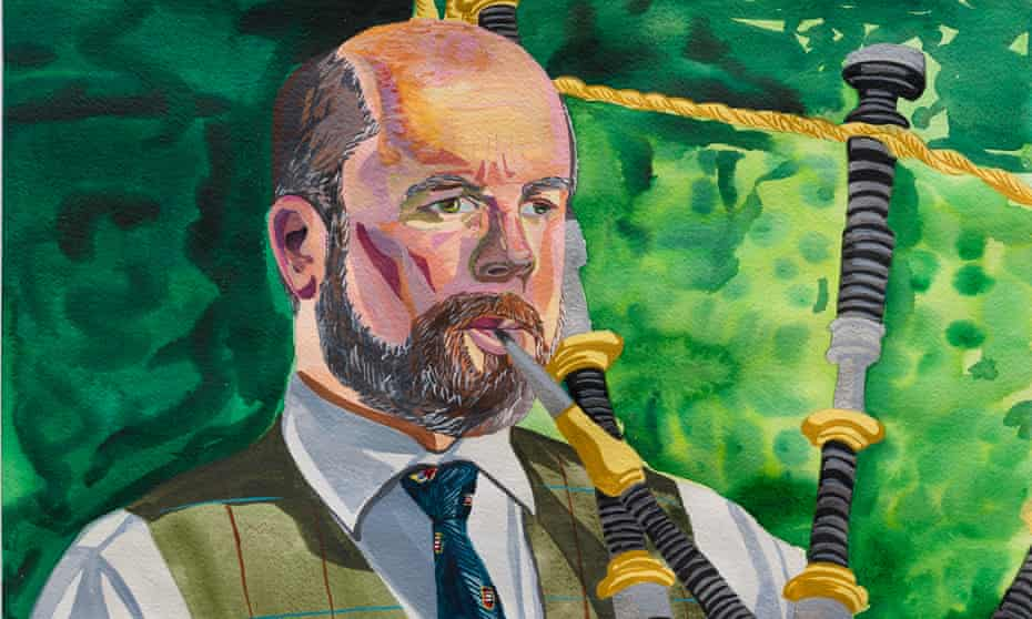 Downtime … detail from the portrait of Calum Semple, professor of outbreak medicine and member of SAGE.
