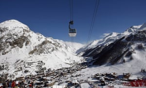 Val-d'Isere in the French Alps.