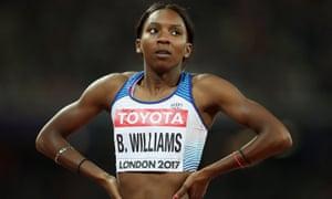 The athlete Bianca Williams.