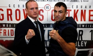 George Groves and Eduard Gutknecht meet in the ring on Friday evening