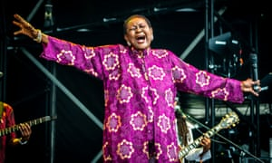 79-year-old Calpyso Rose performing at Womad 2019.