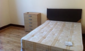 The double room in Stratford, east London is available at a bargain rent to an IT or business graduate.