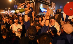 Cubs fans take to the streets to celebrate an end to 108 years of pain