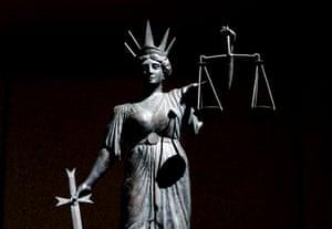 A justice statue