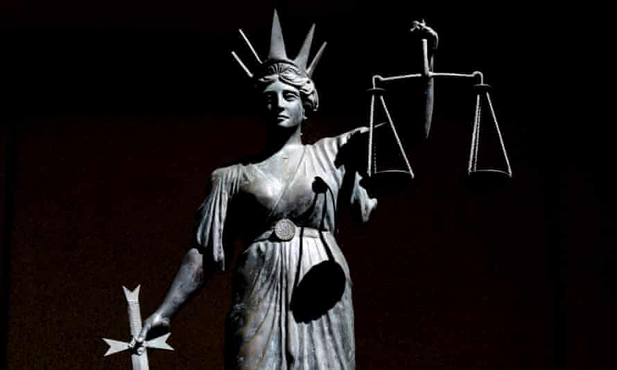 A statue of 'Lady Justice' outside the Supreme Court in Brisbane, Australia.