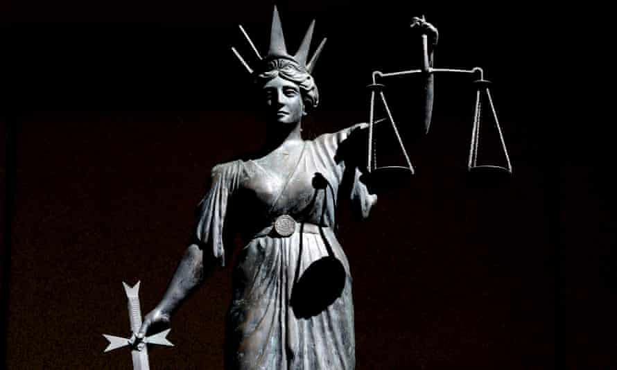 Stock picture of a statue of 'Lady Justice'