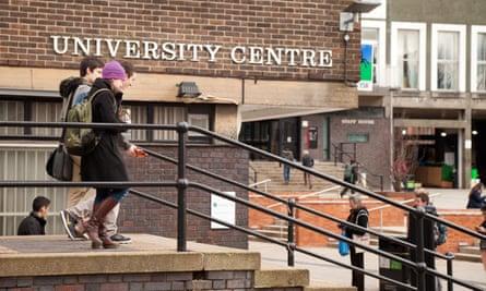 Students in Edgbaston campus, University of Birmingham
