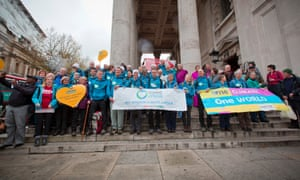 Christians set out from St Martins In The Fields, Trafalgar Square, London on their march to the Paris climate change summit