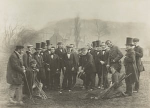 Group of golfers, c. 1849