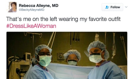 #DressLikeAWoman trended on Twitter after a report said Trump prefers female staffers 'to dress like women'.