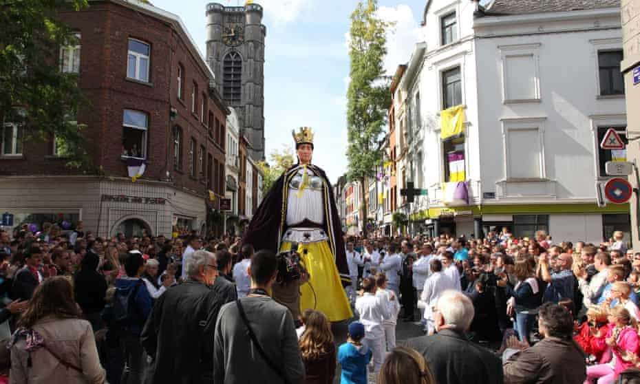 The parade of giants in Ath, Belgium