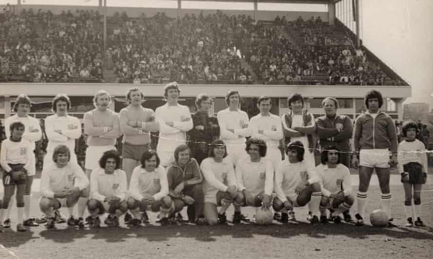 The 1974 title-winning South Melbourne team. Kokkinos is on the back row, second from the right.