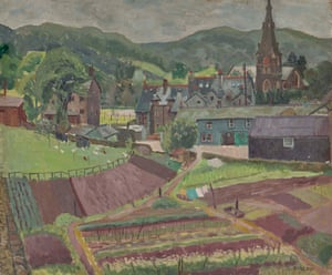 Ambleside, 1944, oil on canvas, by Deirdre Borlase.