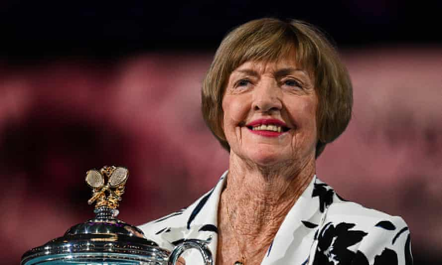 Margaret Court at a ceremony at the 2020 Australian Open to commemorate 50 years since her grand slam win
