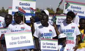 the Gambians protesting against Yahya Jammeh