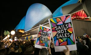 Sydneysiders protest against allowing the Everest Cup to be advertised on the sails of the Sydney Opera House. The NSW premier, Gladys Berejiklian, ultimately gave Alan Jones what he wanted