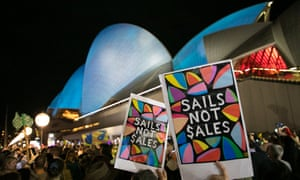 The protest called for the focus to be on 'sails not sales'.