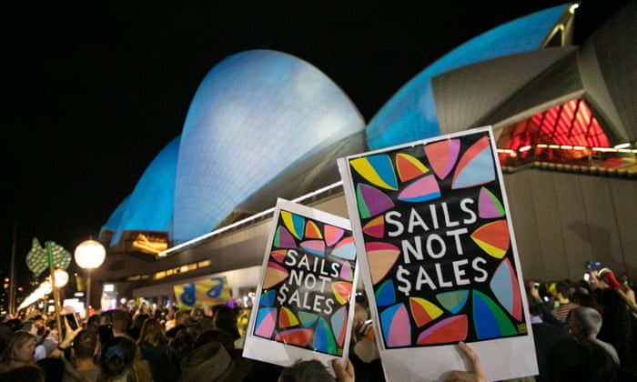 Not for sale': Sydney Opera House racing ad sparks protests