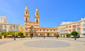 Cadiz Plaza de San Antonio Church