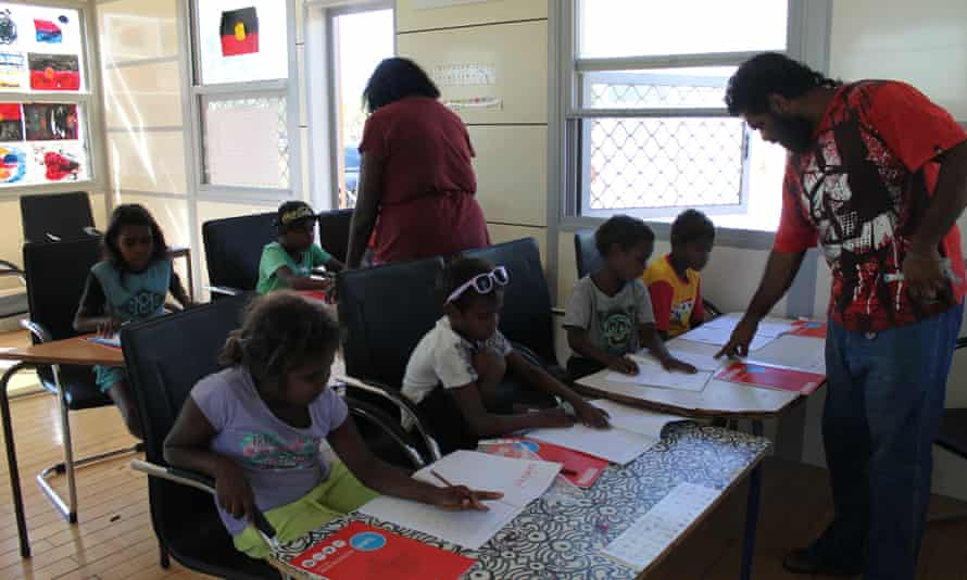 The Barkly community's newly established School of Air for the younger members.