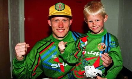Peter Schmeichel and his son Kasper