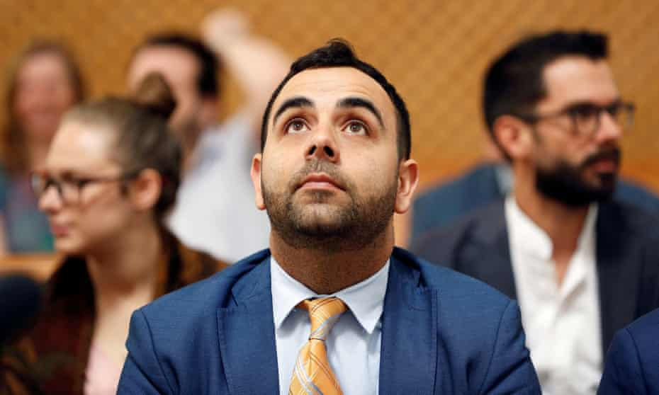 Omar Shakir, Israel director for Human Rights Watch, during his court hearing.