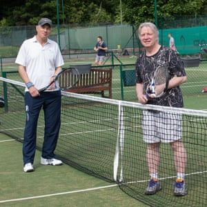 Dave Berry and his playing partner Adam De Winter at Coolhurst tennis club