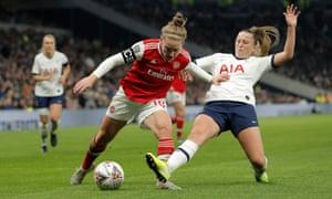 Tottenham Women v Arsenal Women in a WSL match in November  2019.
