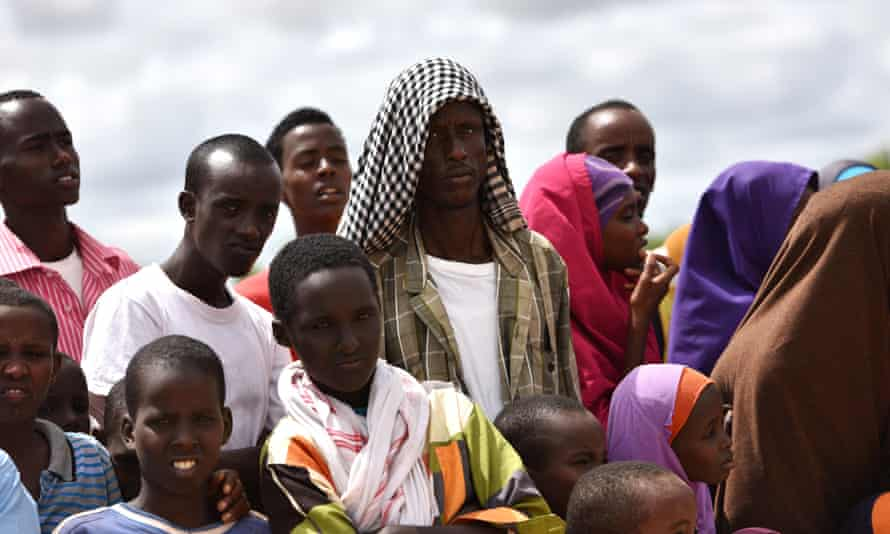 Refugees in Dadaab, the world's largest refugee camp in north-east Kenya, photographed in May 2015.