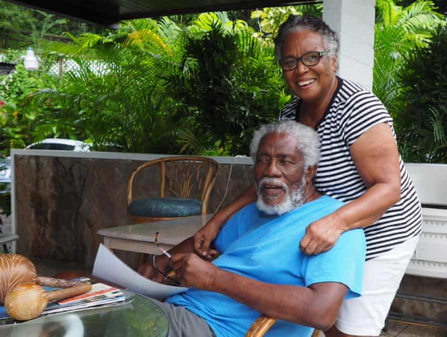 Theo and Gloria Ferguson have transformed their garden into a haven for hummingbirds.